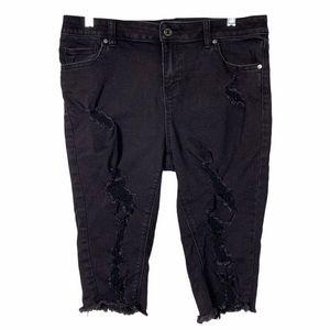 Soho Distressed Bermuda capri Jeans